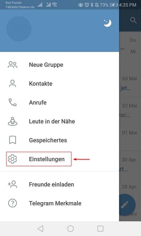 Telegram Online-Status verbergen: So deaktvierst du