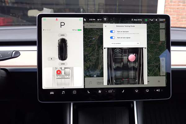 Fart Mode, versteckte Funktionen bei Tesla