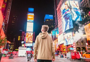 Times Square, New York City, personalisierte Werbung