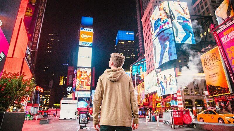 Times Square, New York City, personalisierte Werbung