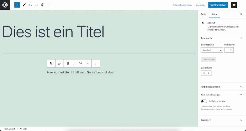 WordPress Website erstellen Seite und Beitrag erstellen