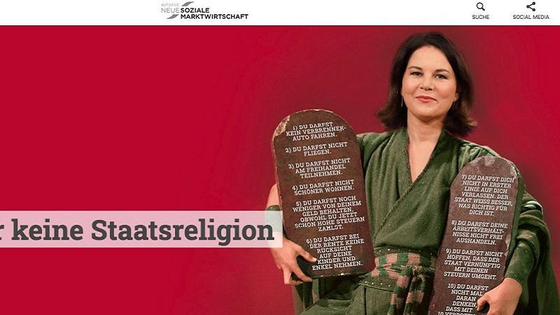 Annalena Baerbock, Baerbock-Skandal, Baerbock INSM Kampagne