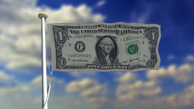 Dollar, USA, US-Dollar, Amerika, Flagge, Federal Reserve, Geldpolitik