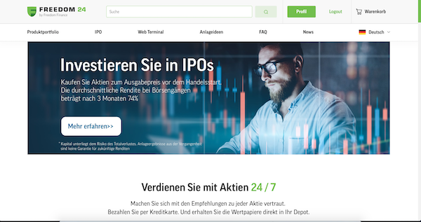 Freedom Finance Plattform