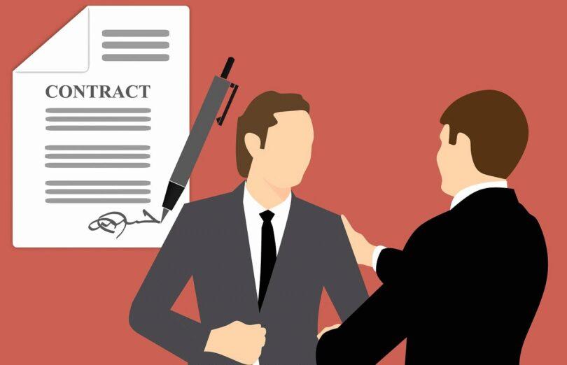 Handschlag, Vertrag, Geschäftsmänner, Business, Vesting-Klausel, Beteiligungen an Start-ups