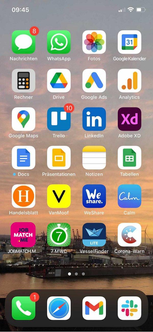 Homescreen, iPhone, Apple, Apps, Daniel Stancke, Jobmatch.me
