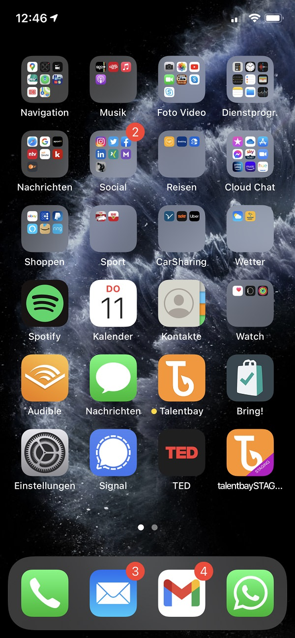 Homescreen, iPhone, Apple, Apps, Marc Irmisch-Petit, Talentbay