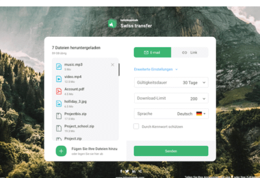Swiss Transfer Datenübertragung Datentransfer