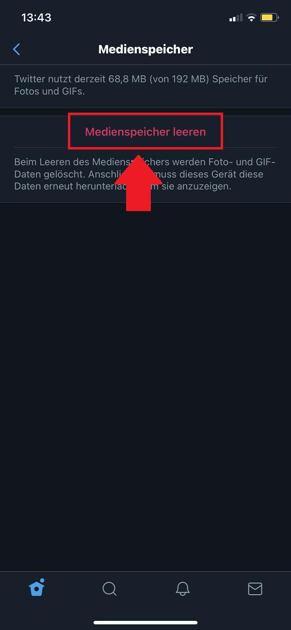 Twitter, Twitter Cache leeren, delete Twitter Cache, Twitter Cache löschen