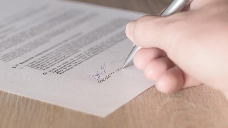 Unterschrift, Vertrag, Dokument, faire Verbraucherverträge