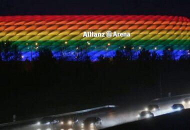 Allianz Arena Regenbogenfarben, UEFA, Fußball EM 2020