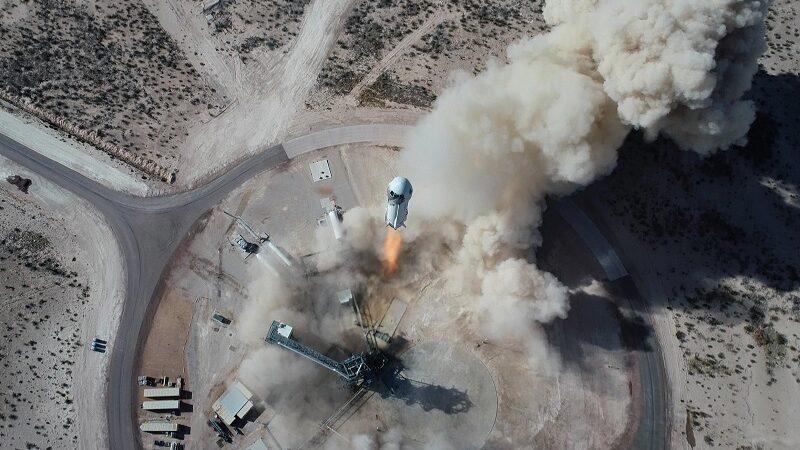 Blue Origin, Launch, Drohne, Texas, Jeff Bezos im All