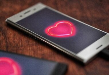 Smartphone, Liebe, Herz, Dating App