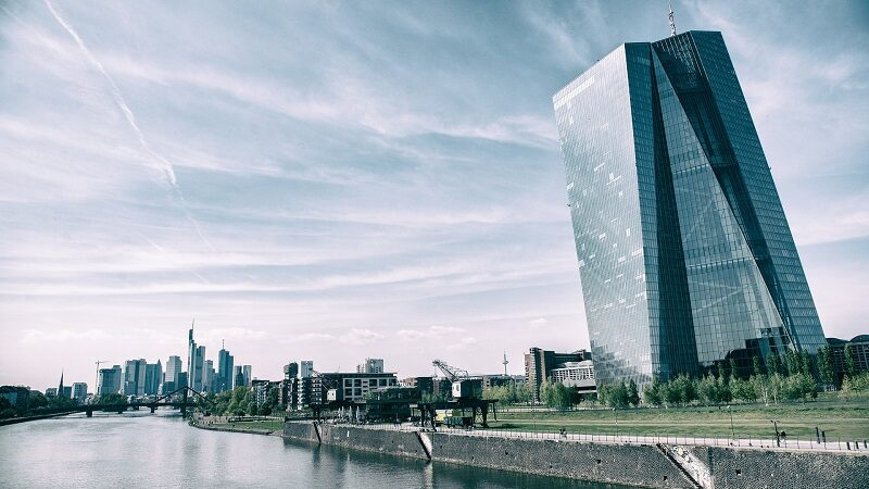Europäische Zentralbank, Frankfurt, EZB, Skyline