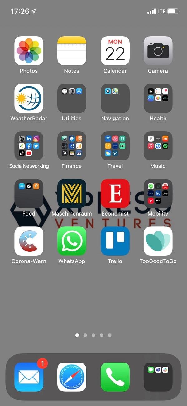 Homescreen, Apple, iPhone, Apps, Adrian Graf, XPRESS Ventures