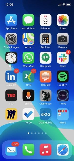 Homescreen, Apple, iPhone, Apps, Kristina Geißler, Yext