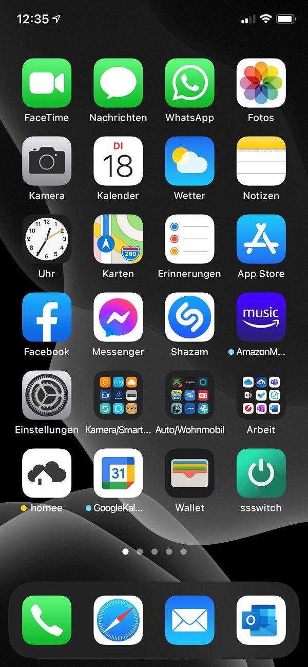 Apple, iPhone, Apps, Homescreen, Oliver Lindner, SEO-Küche
