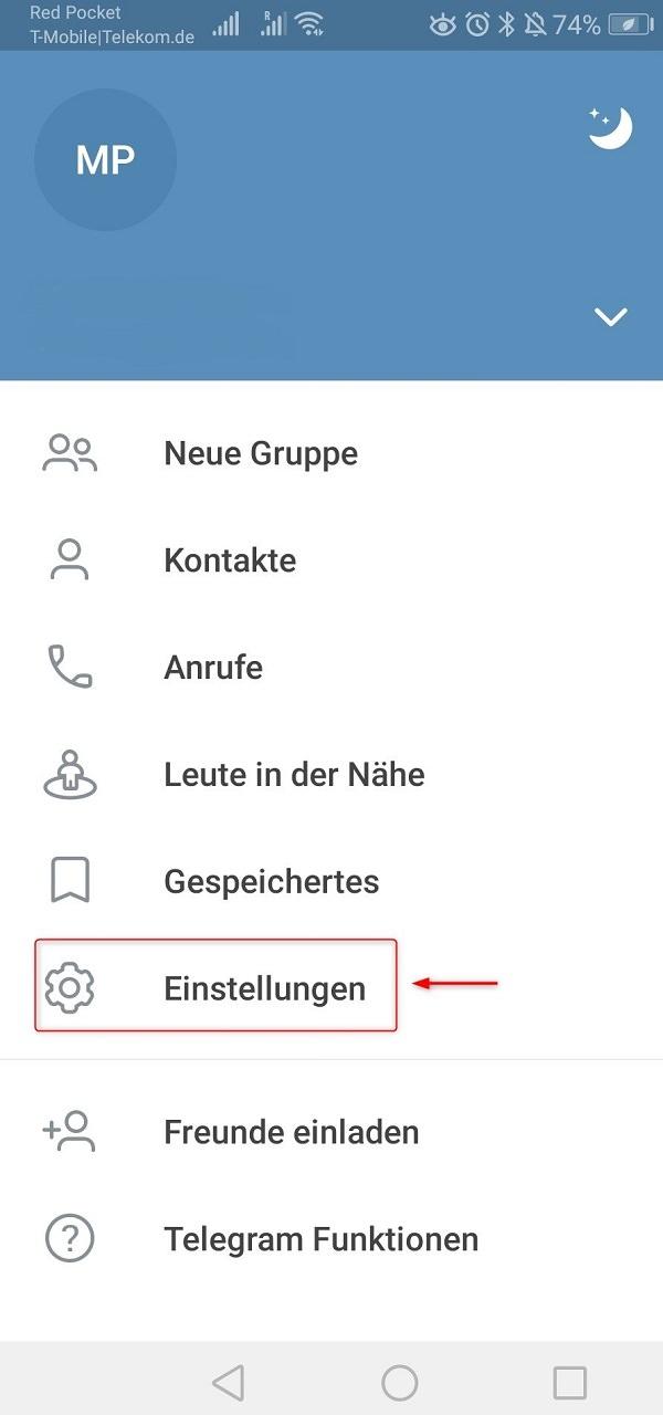 Pincode-Sperre bei Telegram einrichten, Telegram Pin Code, Telegram Pin vergessen