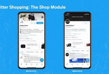 Twitter, Twitter Shopping, Shop-Modul, Shopping-Modul
