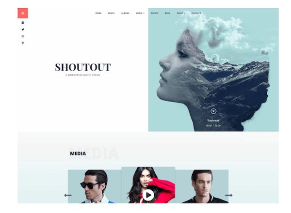Shoutout WordPress Theme Template