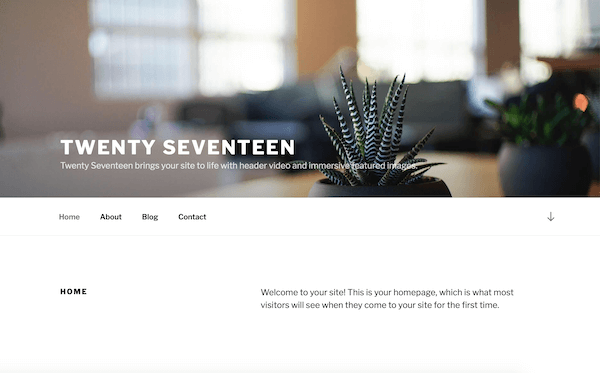 Twenty Seventeen WordPress-Themes