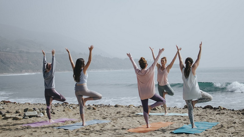 Yoga am Strand, Sport, Fitness