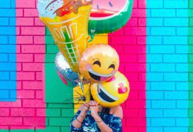 Emojis, Ballons, Helium-Ballons, beliebteste Emojis in Deutschland