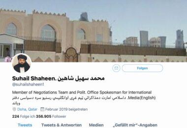 Taliban-Accounts, Twitter, Facebook, Social Media, Taliban-Accounts