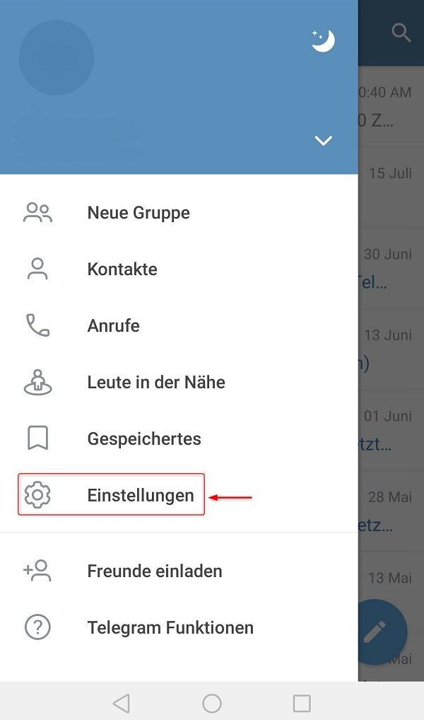 Telegram, Telegram Telefonnummer verbergen, Telegram-Telefonnummer verbergen