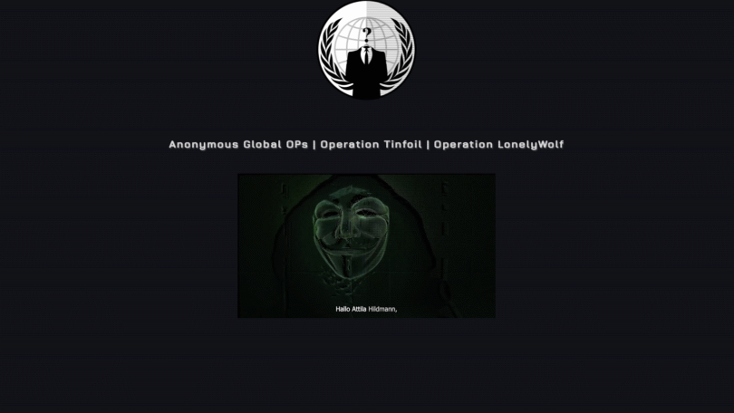 Attila Hildmann, Anonymous, Hacker