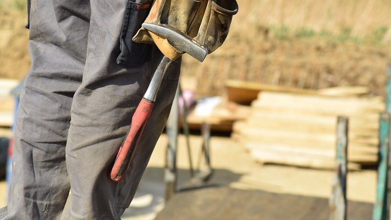 Handwerker, Baustelle, Hammer, Unternehmer sein