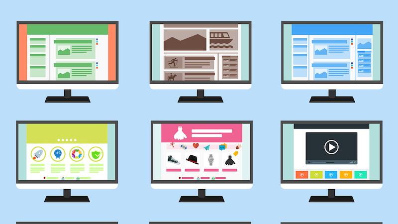 Verschiedene Website-Typen IONOS