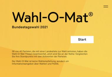 Wahl-O-Mat, Politik, Bundestagswahl, Wahl-Tool