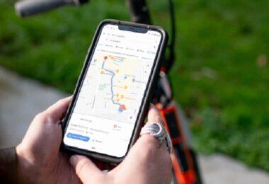 Google Maps, E-Scooter, Spin, Navigation, Google Maps umweltfreundliche Navigation