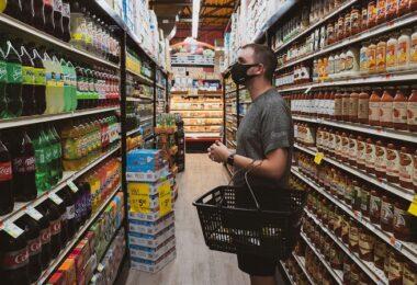 Supermarkt, Laden, einkaufen, Shopping, Corona
