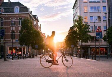 Fahrrad, Mann, Stadt, Sonne, fahrradfreundliche Städte, fahrradfreundlichste Städte