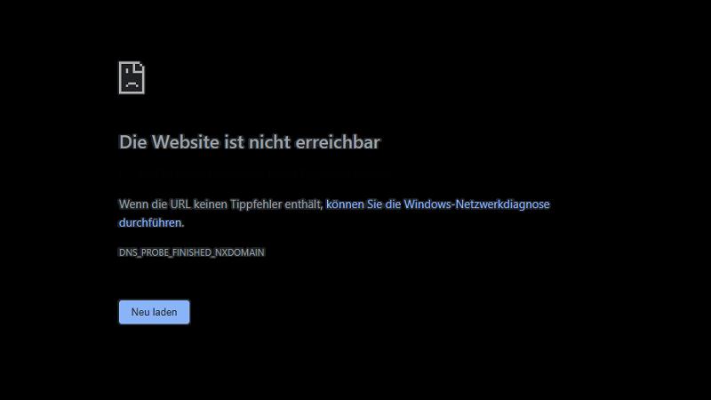 Google Chrome, Fehlermeldung, Aw Snap