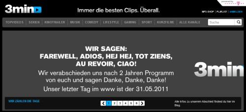 Das Ende der Webisodes? Telekom stampft 3min.de und offenbar auch Tvister ein