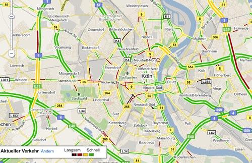 Alles grün auf deutschen Straßen: Google Maps Verkehrsinfo startet in Deutschland