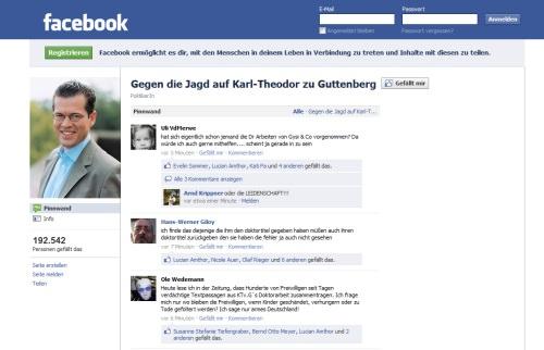 Ein Wiki Enttarnt Guttenbergs Plagiate 190000 Facebook Fans
