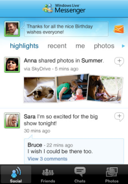 Windows Live Messenger für unterwegs: Microsoft bringt seinen Chat-Dienst aufs iPhone