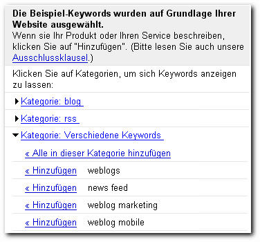 AdWords Keywords
