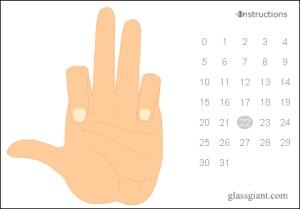 Binär mit einer Hand zählen