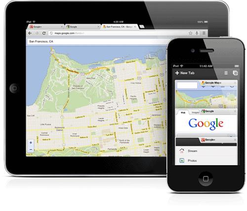 Chrome für iPad, iPhone und iPod ist da