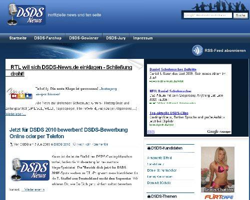 Im Streit mit RTL hat der Betreiber von dsds-news.de einen ersten Erfolg erzielen können.