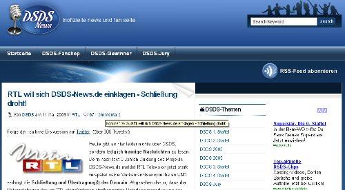 Was wird aus dsds-news.de?