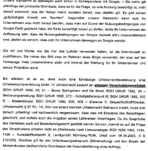GEarth Abmahnung small