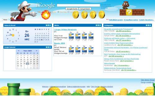 Google Klassische Startseite