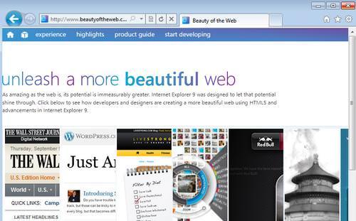 Internet Explorer 9 Beta: schneller Browser mit HTML5 und schönen Ideen