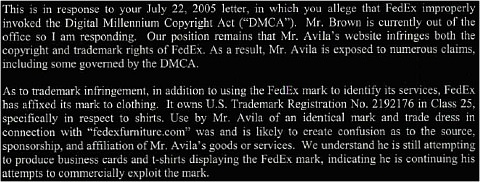 letter from fedex